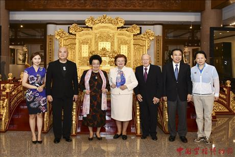 Latvian Former President Mrs. Vaira Vike-Freiberga and Her Accompanists Paid a Visit to China Red Sandalwood Museum.